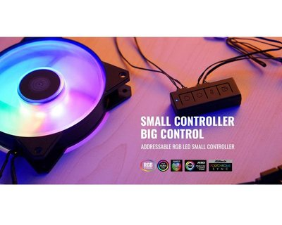 『高雄程傑電腦』Cooler Master RGB 5V 簡易控制器 MFX-ACBN-NNUNN-R1【實體店家】