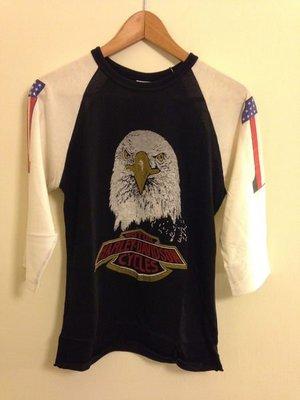 *經典90年代重機符號哈雷harley-davidson老鷹頭標誌正老T M號 加拿大製