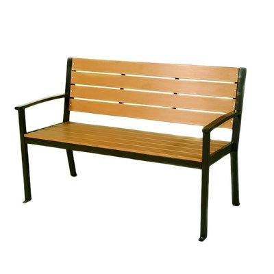 【紅豆戶外休閒傢俱】鐵製塑木公園椅/休閒傢俱/鑄鐵長椅/實木桌椅/實木椅/公園桌椅/實木桌椅/庭園咖啡桌椅/陽台桌椅