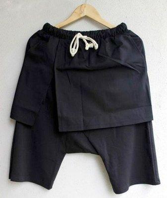∵ PRAY FOR FASHION ∴暗黑個性層次假兩兩件片裙六分裙褲短褲