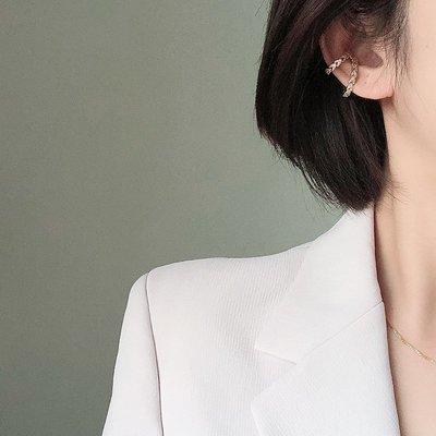 木夏小鋪·高級感耳骨夾無耳洞耳夾女雙層耳掛耳環時髦歐美風圓環耳圈無痛
