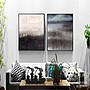 黑灰白抽象 客廳現代裝飾畫 餐廳玄關無框掛...