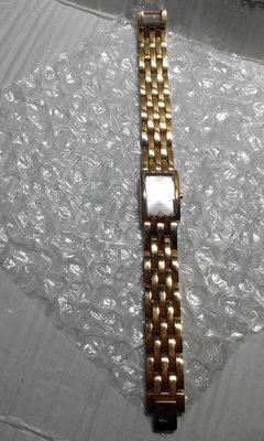 ~衣圓琦標&無底*衣綺交流~澳洲LOYAL 女款 ''閃亮銀色面'' 金色厚不銹鋼晚宴手環錶 18.5*1.5cm
