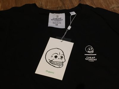現貨+預購Cheap Monday Standard Line Skull Tee 黑