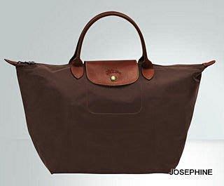 喬瑟芬【LONGCHAMP】出清~2014春夏 巧克力203 折疊系列 中型 *1623089 短柄 手提包