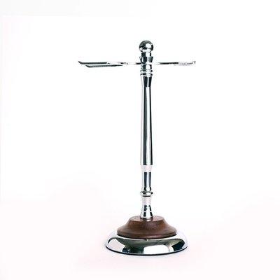 英國 Grand Manner 刮鬍刀架 / 鬍刷架 / 修容用具收納架(胡桃木 / Shaving Stand)