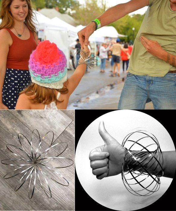 流動金屬環 FLOW RINGS 療育 表演 跳舞 街頭藝人 金屬手環 泡泡環 魔術流體環 Toroflux