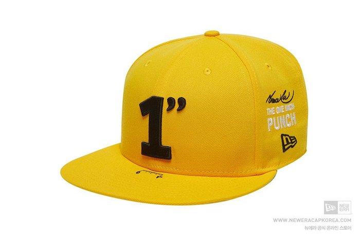 【Easy GO 韓國潮牌代購】NEW ERA x BRUCE LEE 聯名款平簷式棒球帽(黃色)