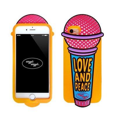 韓國 趣味彩色麥克風 安全矽膠保護套 手機殼│iPhone 6/6S Plus│z7608