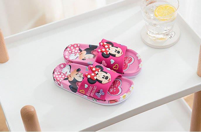 [木馬家](15.5公分~20.5公分)兒童米奇米妮拖鞋