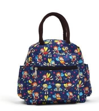 新品日本防水帆布手提媽咪飯盒袋小學生帶飯裝午餐保溫便當包