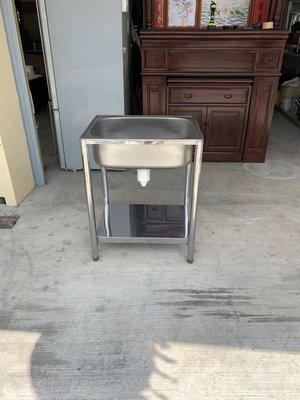 ✪樂芙二手貨✪ 62水槽 不銹鋼水槽 洗手台 洗碗槽 洗菜槽 戶外洗手台