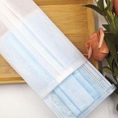 手工縫製不織布口罩套 口罩套 一組6個白色薄型 透氣性佳 造型時尚 非醫療