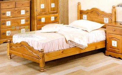 原木單人床架 實木單人床 堅固耐用 溫馨典雅 美觀大方 3.5尺*6.2尺