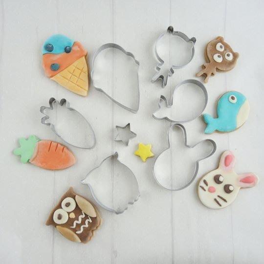 *愛焙烘焙* Betty's 焙蒂絲 大頭兔餅乾模 7入 PM3213 翻糖切模 造型壓模 兔子 冰淇淋 鯨魚 紅蘿蔔