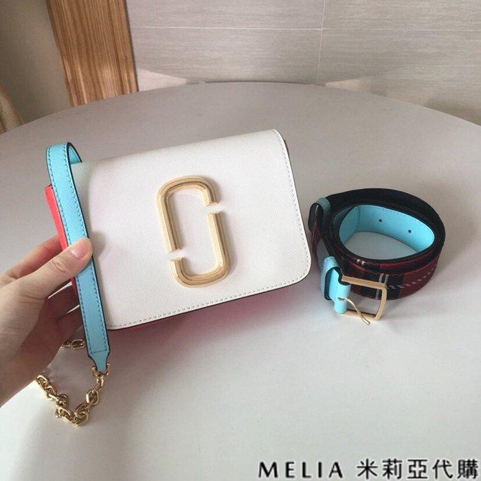 Melia 米莉亞代購 商城特價 數量有限 每日更新 MARC JACOBS MJ 拚色腰包 鍊條包 多種背法 歐美時尚