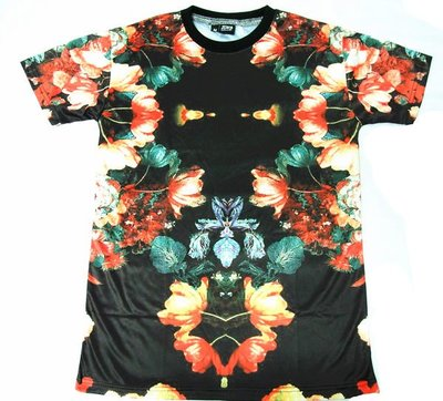 【HYDRA】英國品牌 Zomb clothing flower set tee 花卉 滿版 印花短T S / M / L
