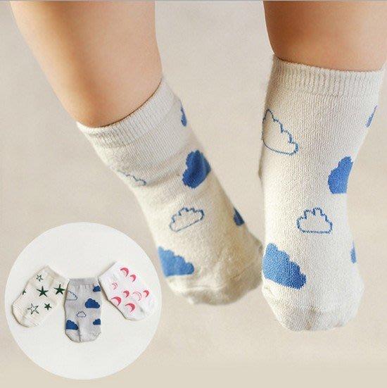 【現貨+預購】童襪男女寶寶純棉星星月亮雲朵卡通短襪嬰幼兒小襪子