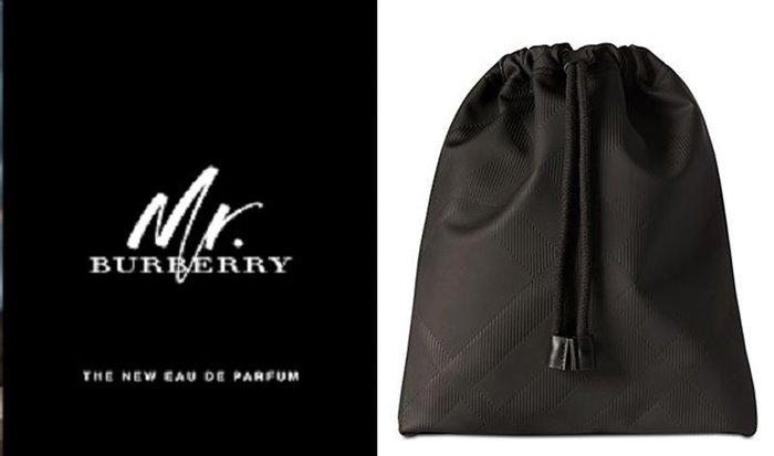 專櫃滿額禮burberry 經典格纹 束口袋 抽繩包 化妝包 盥洗包 過夜包 旅行收納包 可装PAD(BBS28)