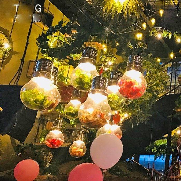 胡桃裏裝飾燈泡綠植物吊燈音樂餐廳咖啡廳個性網咖酒館酒吧台燈具   ATF