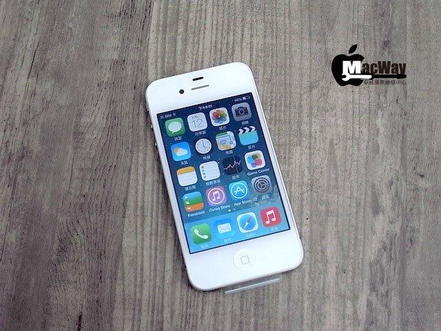 『售』麥威 iPhone 4 白色 16GB iOS 7.1.2 原廠付費換回無使用!!!