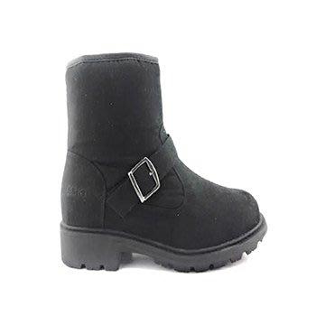 丹大戶外用品【ESKT】男低筒雪靴/軍靴/附有簡易冰爪/冬天保暖 SN200 黑色沙丁布
