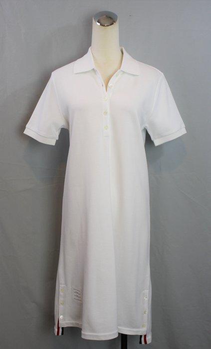 海洋工坊二手名牌旗艦店~THOM BROWNE 白短袖休閒洋裝