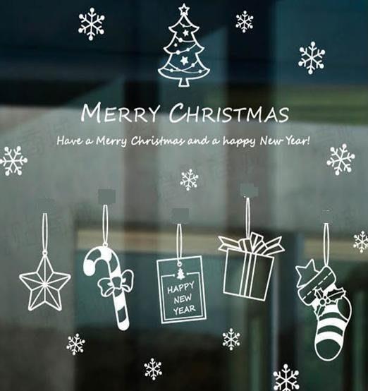 小妮子的家@ 聖誕星星一壁貼/牆貼/玻璃貼/磁磚貼/汽車貼/家具貼