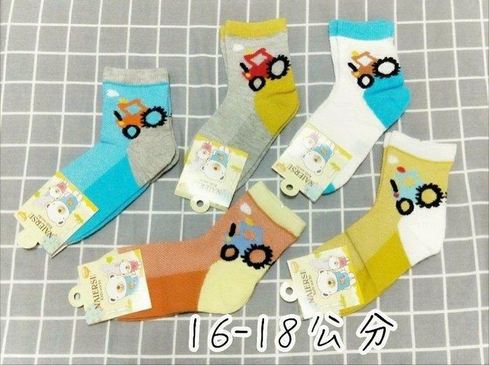 (童襪區//5雙1組)3-5歲 6-8歲 網眼材質 車子造型 童襪