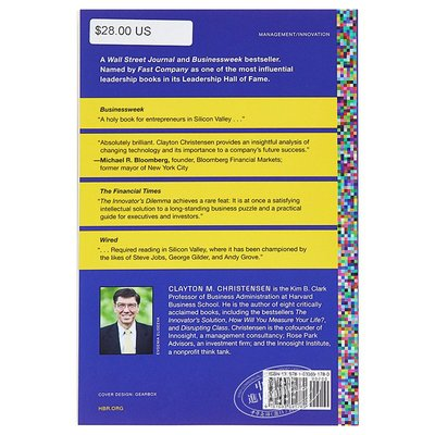 【中商原版】創新者的困境(羅輯思維書單)英文原版 The Innovator's Dilemma 商業與財富 經濟管理