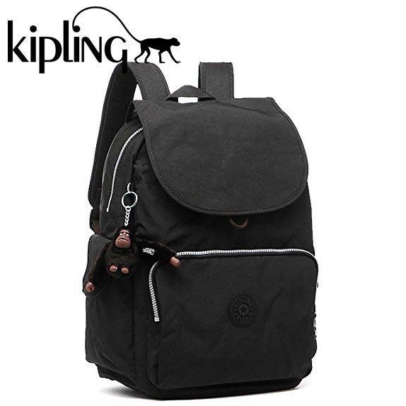 KIPLING 18735 CITY PACK L 大款 媽媽包 後背包 翻蓋 束口 書包 小猴子♡LUCI日本代購♡