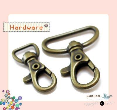 【小布物曲】五金 -特價 7折 古銅金 龍蝦鉤(13/26mm)‧DIY材料/ 拼布/ 鑰匙圈