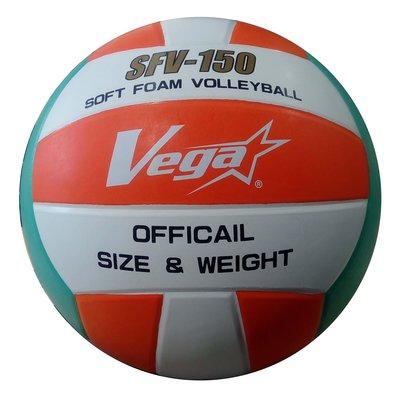 體育課 VEGA 鮮亮配色5號橡膠軟式排球(綠/橘/白)練習 系隊 教學 專用OVR-503   團體訂購
