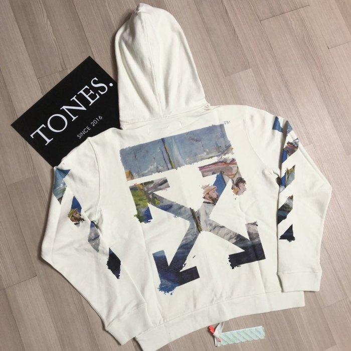 【TONES.】OFF-WHITE 19SS 塗鴉油畫 連帽外套 最新款 全尺上架