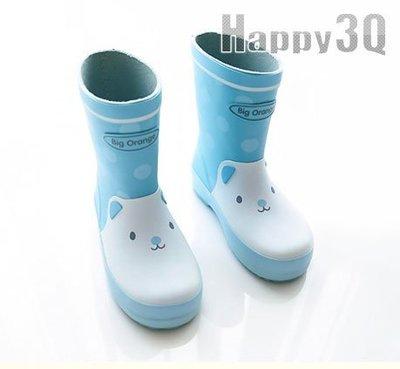 可愛Q版動物貓咪橡膠童鞋兒童雨鞋雨靴-藍/黃/粉20-36【AAA0114】預購