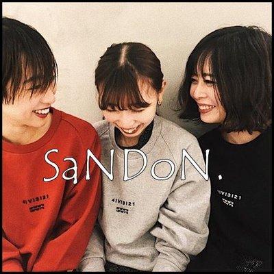 SaNDoN x『Ameri VINTAGE』代官山限定款 經緯度紀念3d立體字母簡約大學tee 190101