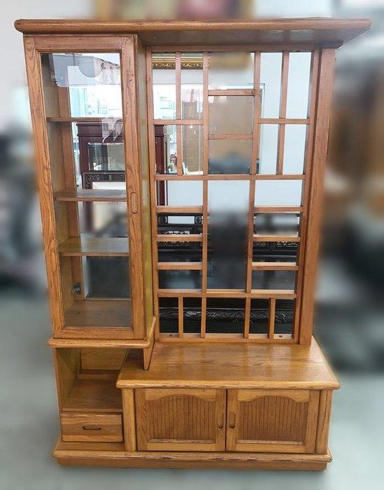 【宏品二手家具】 台中全新中古傢俱家電最便宜 A11201*木色屏風隔間櫃*衣櫃/高低櫃/置物櫃/電視櫃/矮櫃/平面櫃