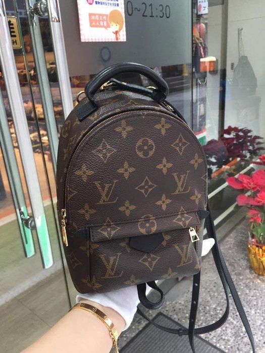 典精品名店 LV 真品 M44873 原花 mini 手提包 後背包 現貨