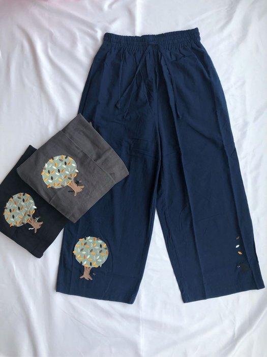 日本卡拉貓~大樹貓咪薄布寬褲