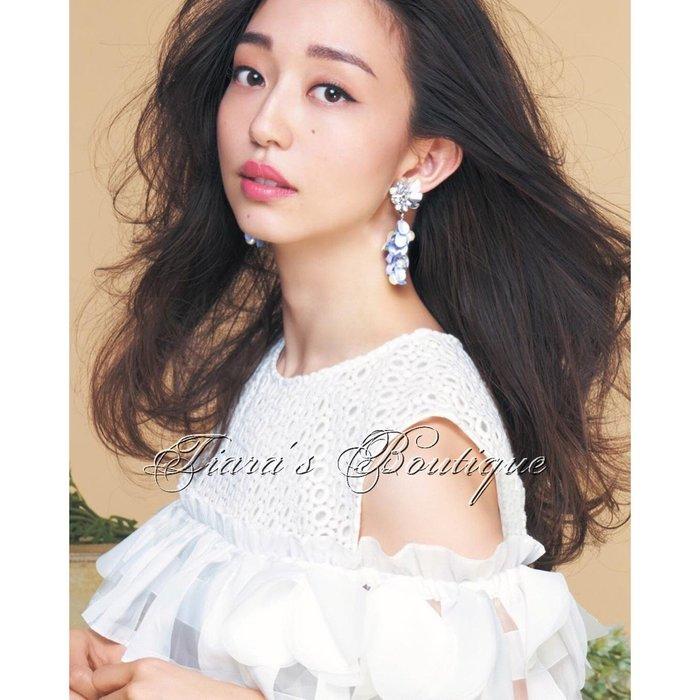 Chesty 日本貴婦-公主系品牌 純淨可愛白色透明格子洋裝 露肩 洞洞蕾絲 喜歡M'S GRACY可參考 (446)
