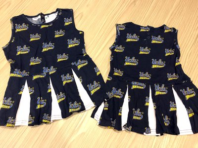 JFK 美國 NCAA UCLA BRUINS 幼女童無袖連身裙 3歲3T