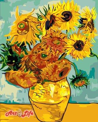 ArtLife藝術生活 DIY 彩繪 數字油畫 裝飾畫【66234】梵谷 向日葵 40*50cm