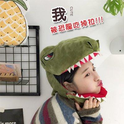 【鉛筆巴士】現貨 恐龍帽 (成人兒童皆可使用) INS 搞怪帽 可愛帽子 日系韓系拍照道具鯊魚帽可愛頭套k1805040