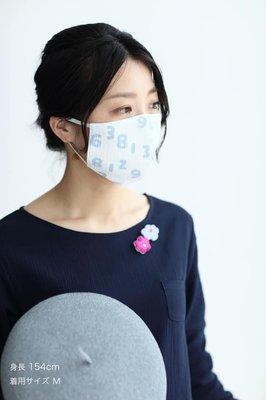 ˙TOMATO生活雜鋪˙日本進口雜貨人氣日本製SOU・SOU經典數字滿版款純棉立體可水洗3D立體口罩(現貨+預購)