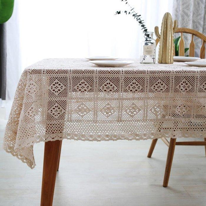 桌巾 蕾絲 米色 長方形 正方形 100*140cm 鄉村風 桌布 拍照 背景 小桌布 攝影 鋼琴 蓋布 花木馬 北歐風