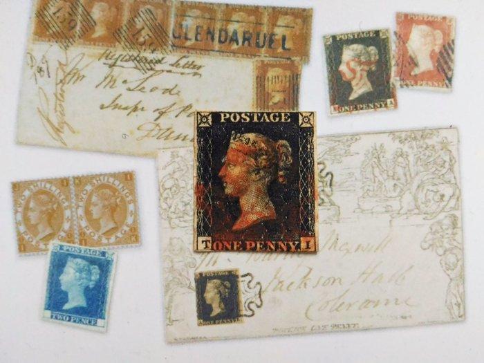 (極品珍藏!)大英帝國 1840年 世界首枚郵票-黑便士 (紅色馬爾他郵戳) Victoria-維多利亞女王