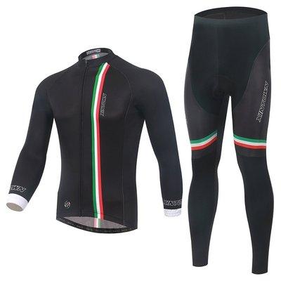 【購物百分百】2015 長袖套裝 男女 意大利 自行車/腳踏車 騎行服單車服 車衣車褲長套裝 非刷毛款/保暖刷毛款-款款