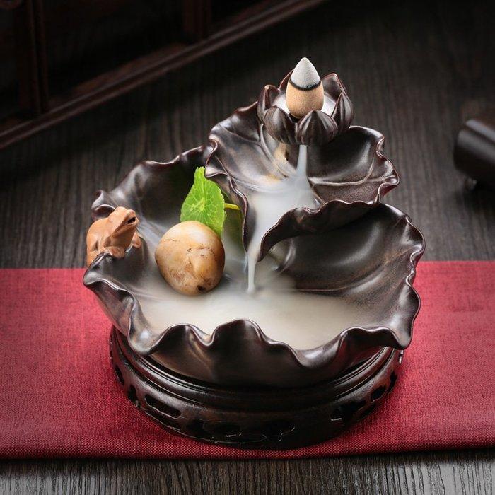 預售款-LKQJD-陶瓷抖音同款倒流香爐創意擺件 家用室內茶道禪意檀香沉香熏香爐