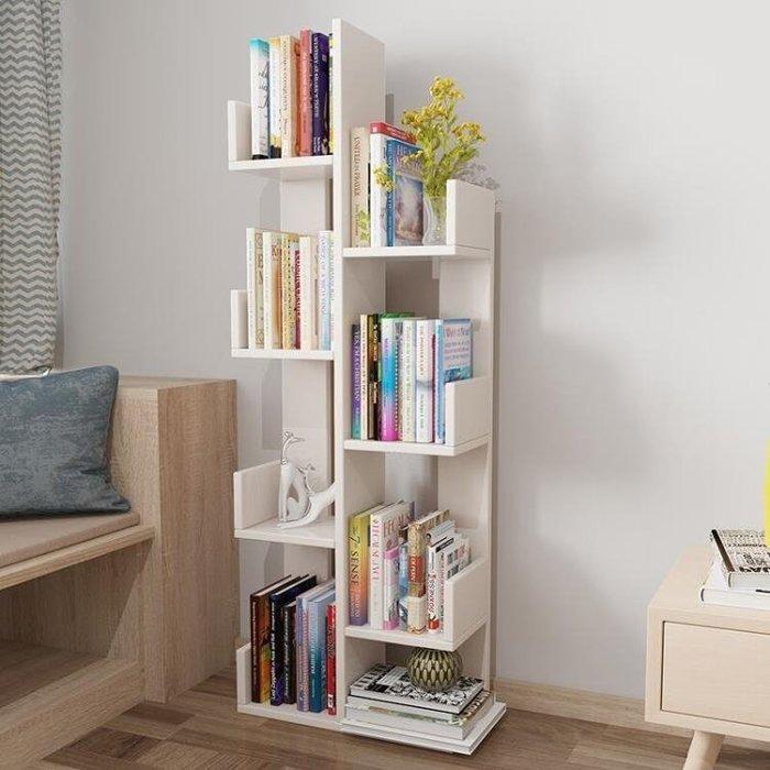 順雙吉書架落地現代簡約簡易置物架經濟型省空間組裝兒童樹形書架YS