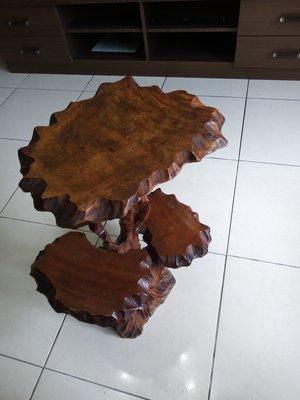 老件~檜木型雕展示架